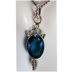 "Jewelry - 6ct Apatite Pendant/Necklace 1.50"" long"